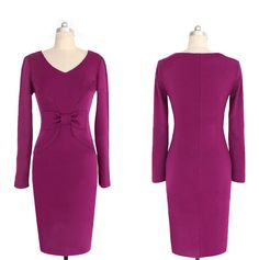 BEFORE Autumn Sexy Women Dress Retro Long-Sleeved Solid Color Pencil Work Plus Size Bodycon Dress Fashion Casual Elegance Dress What a beautiful image Get it here