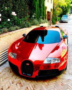 Red Bugatti! A Delta can dream in crimson. Ooh la la!!