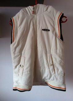 Kup mój przedmiot na #vintedpl http://www.vinted.pl/damska-odziez/bluzy/13061461-sportowa-kamizelka-biala-bluza-dres-bezrekawnik-kaptur-s-m-l-34-36-38