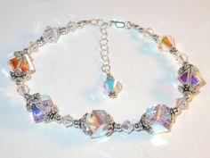 Bracelet design by Tina Kincaid   Swarovski Crystal Bracelet Sterling Silver by CharminglyYoursToo, $64.95