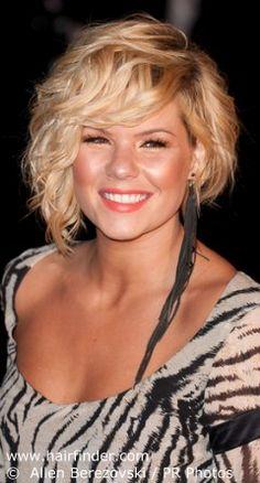 Kimberly Caldwell's asymmetrical haircut