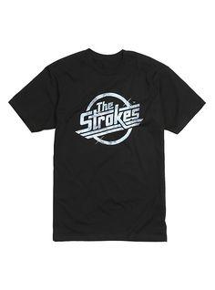 The Strokes Faded Logo T-Shirt, BLACK
