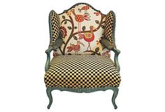 Vintage Chair Upholstered in Multiple Fabrics by EileenandTaylor, $1895.00