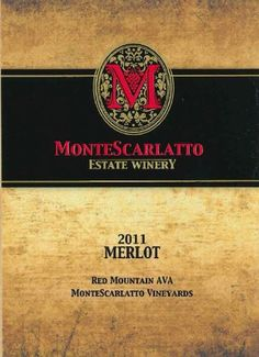 2011 MonteScarlatto Red Mountain Merlot 750 mL >>> Find out more about the great product at the image link.