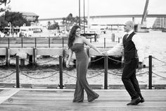 At the bay engagement session in Miami by Orth Photography.  Engagement photos at Bayside.