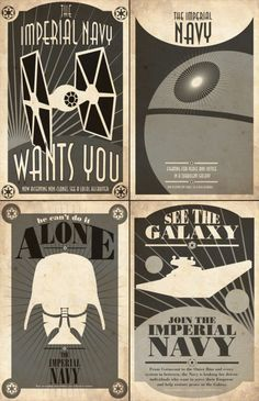 Starwars Imperial Navy recruitment propaganda posters from the Empire by ~captain-cavishaw