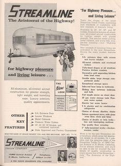 September 1960 Streamline Trailer Ad