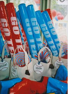 Thunder sticks...cute idea for favors.  What boy wouldn't love those?