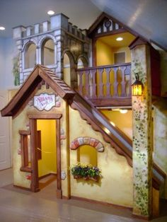 Beautiful playhouse. I've always wanted one of these. If I ever have a daughter, I'd like to design something similar to this for her.