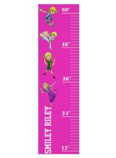 """Keep track of your girls """"sproutiness"""" with the Smiley Riley growth chart. At tall by wide in a bright raspberry color, this chart will look great on any girls bedroom wall (much better than pen marks on the door frame! Growth Chart For Girls, Girl Bedroom Walls, Raspberry Color, Keep Track, How To Grow Taller, Your Girl, Smiley, Best Gifts, Fun"""