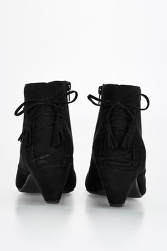Black Lace Back Ankle Boots £42
