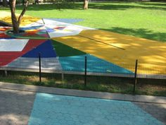 """Jessica Stockholder's """"Flooded Chambers Maid"""" at Madison Square Park, New York"""