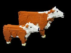 LEGO Hereford Cows by TheBrickMan, via Flickr. We think LEGO should create a set out of this one!