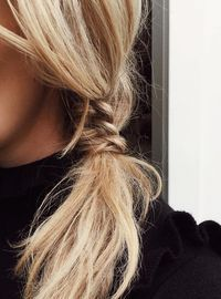 simple, cute hair