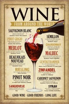 Wine from around the world.
