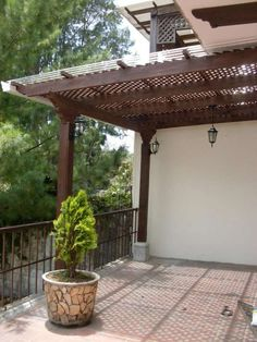 Pergola Ideas For Patio Pergola With Roof, Deck With Pergola, Terrace Design, Pergola Garage Door, Roof Design