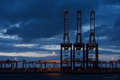 Container Terminal Maasvlakte Container Terminal, Oil Rig, Willis Tower, Airplane, Transportation, Aviation, Corner, Ships, Explore
