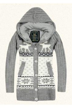 Cute gray moose sweater