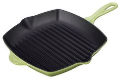 Le Creuset Enameled Cast-Iron 10-1/4-Inch Square Skillet Grill, Palm *** You can get more details by clicking on the image.