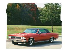 "1966 Chevrolet Chevelle Photo Blanket / Wall Banner 50 x 60"" or 60 x 80"""