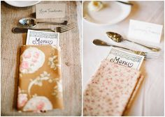 diy wedding napkins