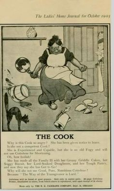 1903 ad for Cottolene (a Crisco-like product)