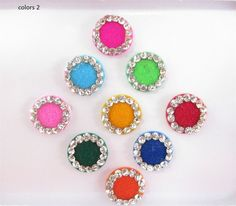 Juicy Beautiful Colored round  Bindis In One Pack  by Beauteshoppe