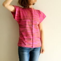 HELLIN Hand printed Organic cotton jersey top