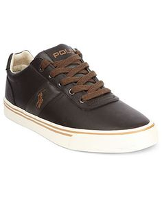 Polo Ralph Lauren Shoes, Hanford Leather Sneakers - Mens Fashion Sneakers - Macy's