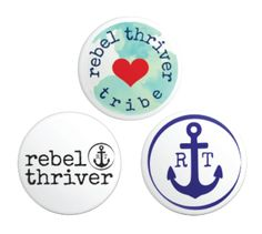 Rebel Thriver Button 3-pack