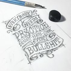 Some people get more practice than others. Type by @abedazarya - #typegang - typegang.com | typegang.com #typegang #typography