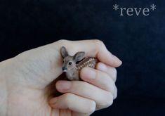 Deer Fawn Handmade Miniature Sculpture by ReveMiniatures on deviantART