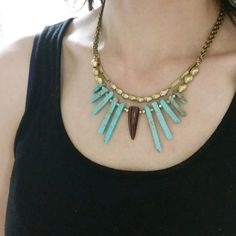 Turquoise Collar Necklace – TOODLEBUNNY