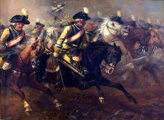 Seydlitz's Cuirassiers charging into battle, Seven Years War- by Richard Beavis
