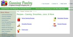 Canning Pantry Recipes | http://www.canningpantry.com/recipes.html