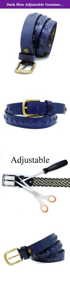 """Dark Blue Adjustable Genuine Leather Unisex Belt 111 cm (43.70"""") BLT801. BLT801 Adjustable Leather Belt Measurements : Width : 3 cm (1.18"""") Length : 111 cm (43.70"""") Material : Leather Important Note: If you provide us your belt measurement while ordering this product, we will adjust the length of the belt and then send it to you. In case you don't provide us your belt measurement, we'll send you the product in the original length. However, you can still adjust the length of the product by..."""