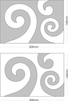 Koru templates for applique & quilting - FUN shapes! very cool for quilting rectangles.