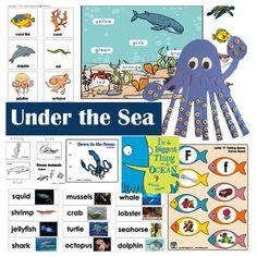 Under the Sea and Ocean Activities, Crafts, and Games for Preschool and Kindergarten