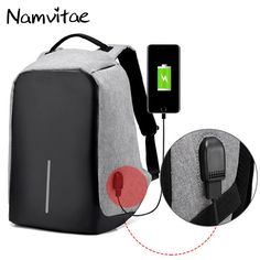 69d30ad96019 Multifunctional Anti Theft Backpack Fashion USB-charging 15inch Laptop  Backpacks Male Teenager Travel Bag Waterproof