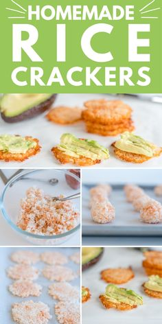 Rice Crackers an easy homemade healthy gluten-free cracker you can make with just leftover rice, and spices Healthy Homemade Snacks, Vegan Snacks, Healthy Savoury Snacks, Rice Snacks, Easy Snacks, Healthy Treats, Healthy Eating, Gluten Free Recipes, Vegan Recipes