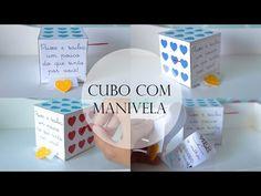 Cubo com manivela e carta de metro | Namorada Criativa - Por Chaiene Morais