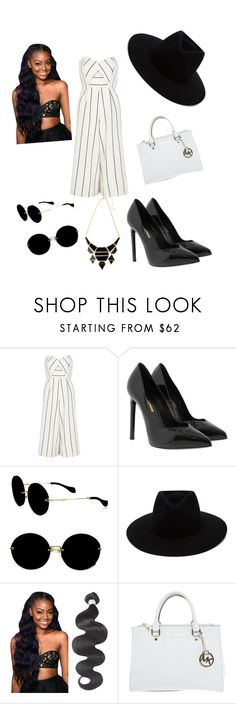"""xXx"" by sung-ra ❤ liked on Polyvore featuring River Island, Yves Saint Laurent, Miu Miu, rag & bone and Michael Kors"