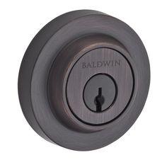 Baldwin SC.CRD Contemporary Round Single Cylinder Keyed Entry Deadbolt