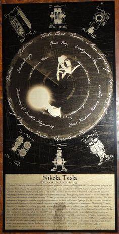 Nikola Tesla Geekograph Limited Edition Metal Art