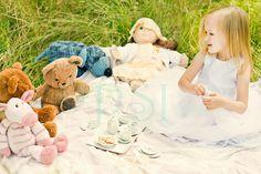 Poetic Spectre Imaging: Tea for Teddy?  Child portrait session concept shoot.