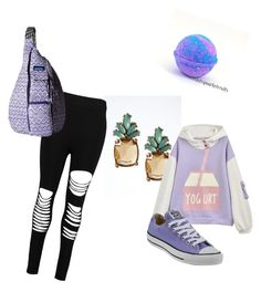 """""""Untitled #37"""" by lbill-bg on Polyvore featuring Banana Republic, Boohoo, Converse and Kavu"""