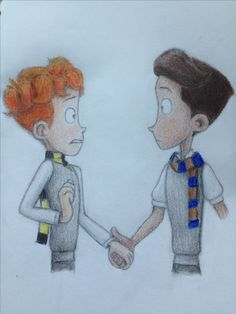 You must be a Weasley....in a heartbeat and Harry Potter crossover fanart~art by wrennuls