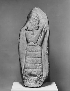 PANTHEON / Stele of the protective goddess Lama, Lassite, ca. 1307-1282 BCE. The Kassites were an ancient Near Eastern people who controlled Babylonia after the fall of the Old Babylonian Empire ca. 1531 BC and until ca. 1155 BC