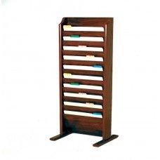 Desk Supplies>Desk Set / Conference Room Set>Holders> Files & Letter holders: Free Standing 10 Pocket Legal Size File Holder