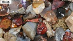 Picture Identification Guide for Polished Stones and Tumbled Rocks Rock And Pebbles, Rocks And Gems, Rock Tumbling, Gemstone Brooch, Rock Hunting, Rock Jewelry, Rock Decor, Rock Collection, Mineral Stone
